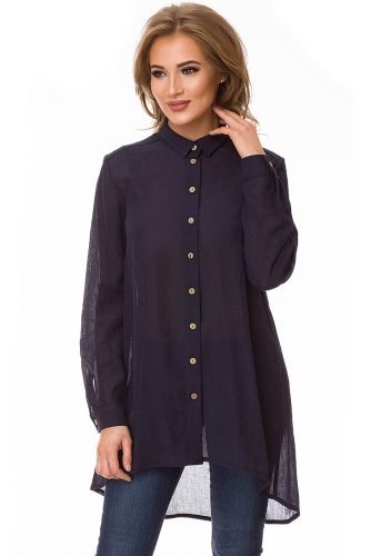Блуза #78115Темно-синий