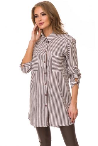 Блуза #77120Какао