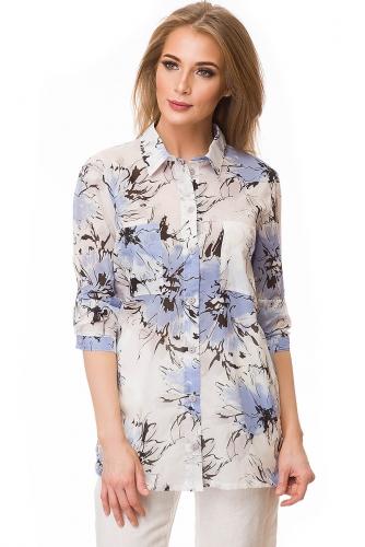 Рубашка #80361Белый