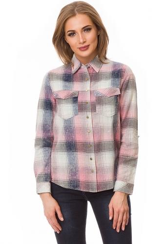 Рубашка #80071Розовый