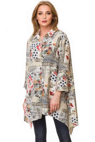 Блузка #81721Бежевый