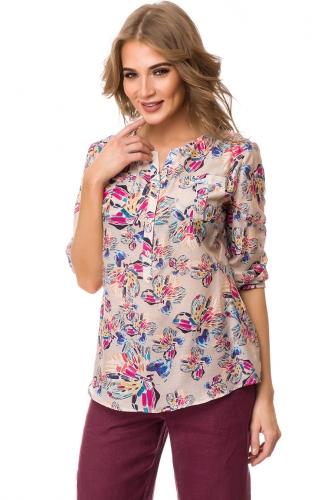 Блуза #76546Бежевый