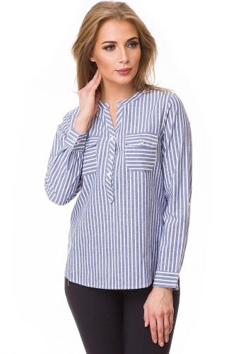 Рубашка #80423Голубой