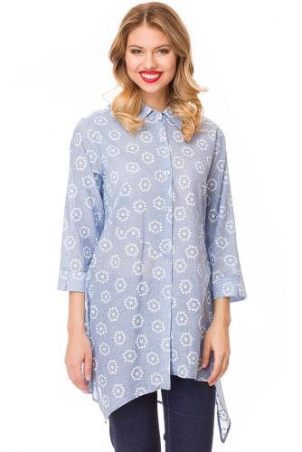 Блузка #81926Голубой