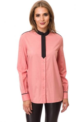 Рубашка #77427Розовый/Черный