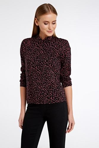 Блуза #79437Черный