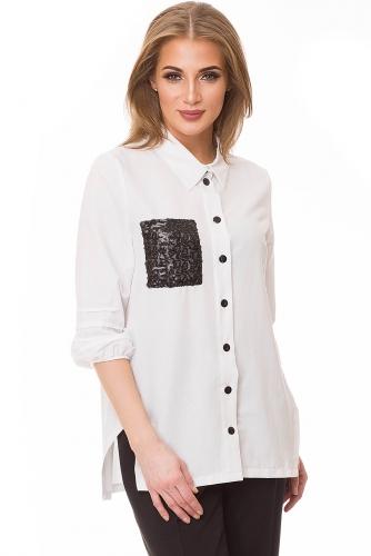 Рубашка #80528Белый