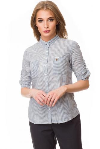 Рубашка #80413Голубой