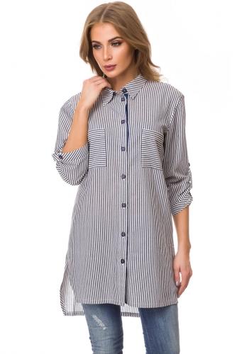 Блуза #77121Синий