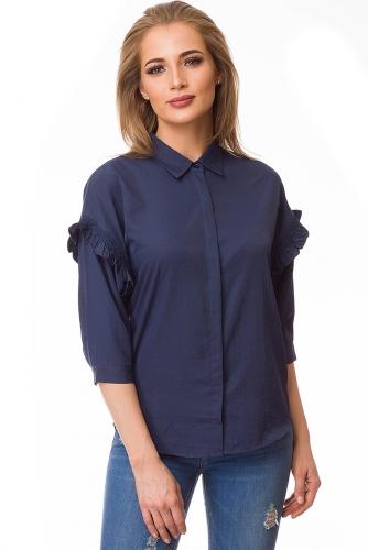 Рубашка #80055Синий
