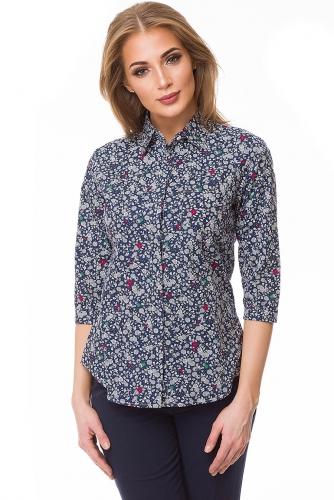 Рубашка #80511Синий