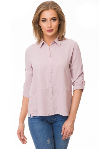 Рубашка #80052Розовый