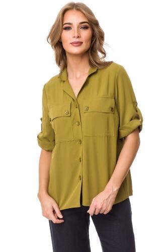Блуза #76413Оливковый