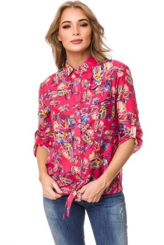 Блуза #76596Красный
