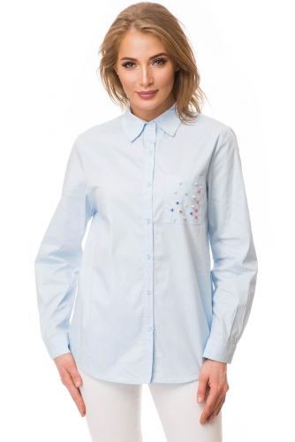 Рубашка #80955Голубой