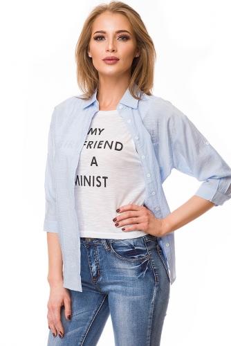Рубашка #79787Голубой