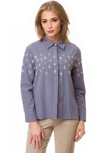 Рубашка #80409Синий