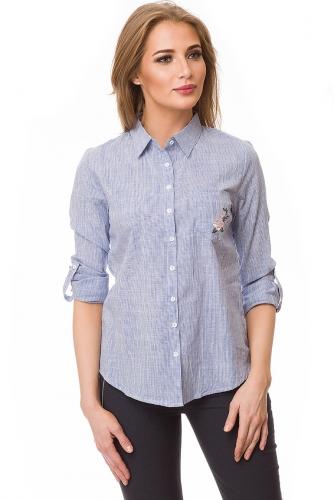 Рубашка #80417Голубой