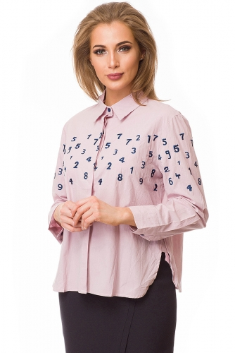Рубашка #79991Розовый