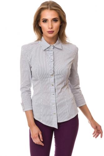 Рубашка #77469Белый-синий