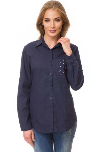 Рубашка #80957Темно-синий
