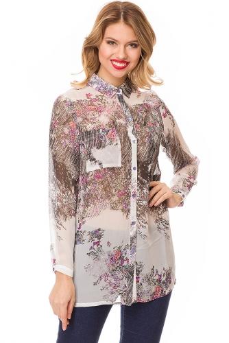Блуза #81928Белый