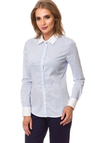 Рубашка #77436Голубой