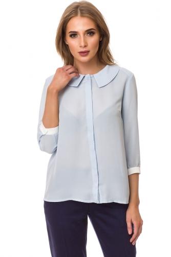 Блуза #77441Голубой