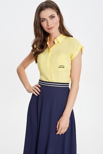 Блуза #79356Желтый