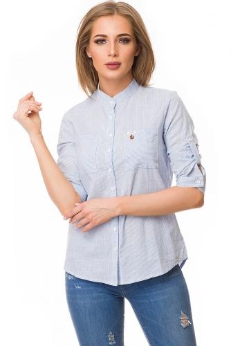 Рубашка #80054Голубой