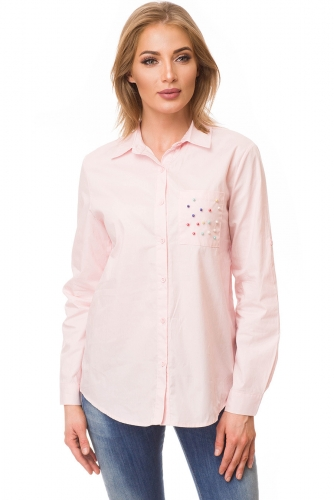 Рубашка #80958Розовый