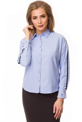 Рубашка #79985Голубой