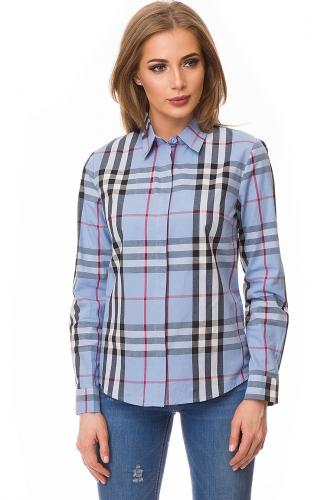 Рубашка #80050Голубой
