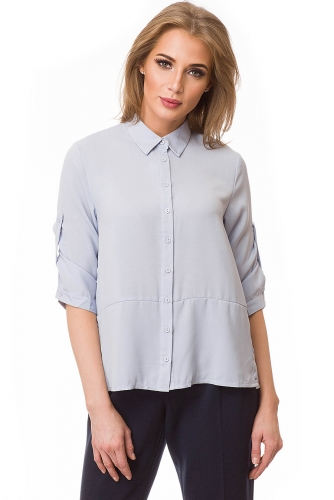 Рубашка #80420Голубой