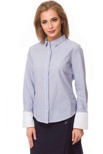 Рубашка #79989Голубой