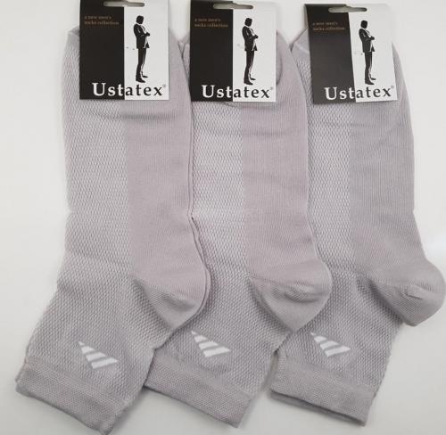 ЮСТАТЕКС носки мужские сетка 1с19 черные. Юста-Текс