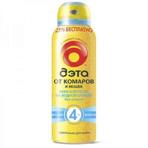 ДЭТА Аква 125мл аэрозоль от комаров(66707703) х18