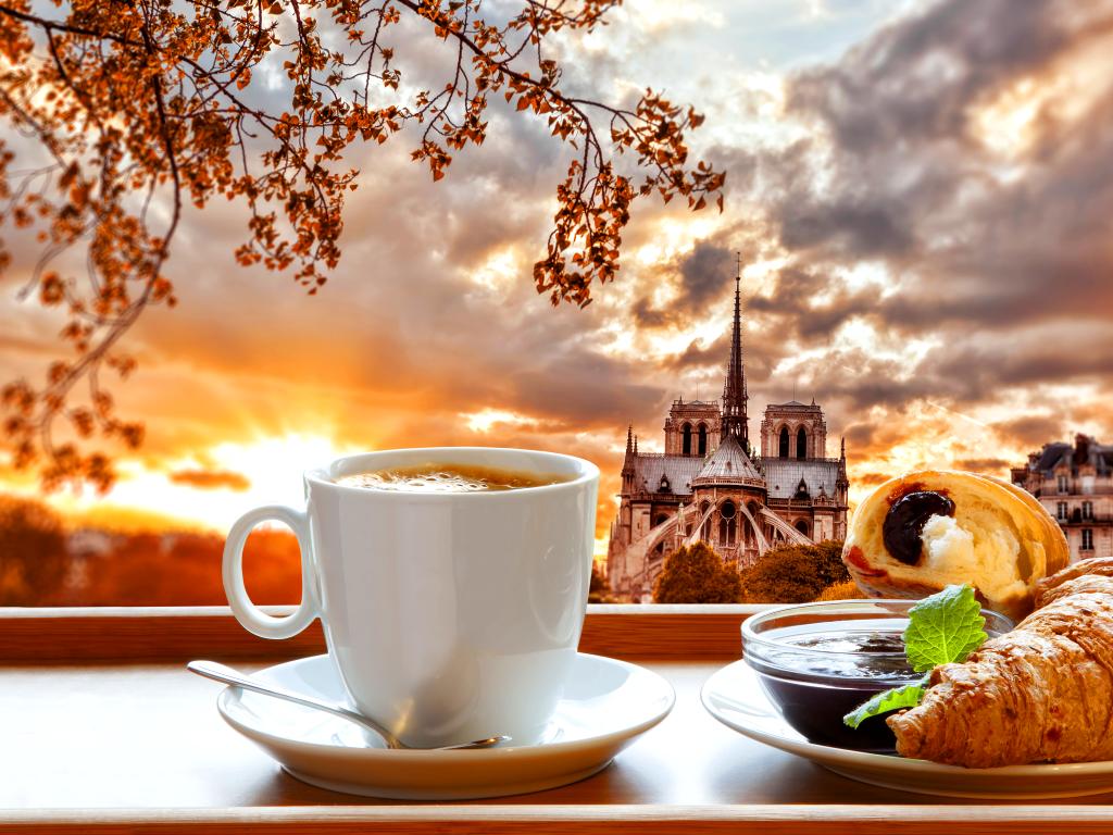 Картинки, открытки на ватсап с добрым утром с чаепитием