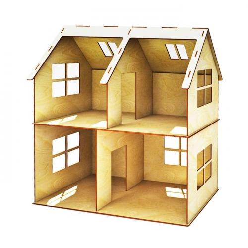 Кукольный домик двухэтажный