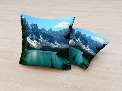 Фотоподушка Озеро в горах