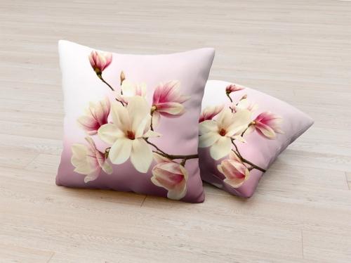 Фотоподушка Нежные розовые цветочки