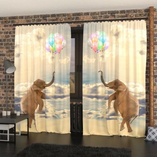 Фотошторы Слон на шариках