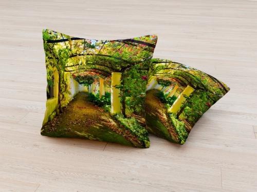 Фотоподушка Зеленая аллея
