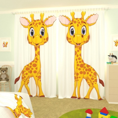 Детские фотошторы Жирафик 2
