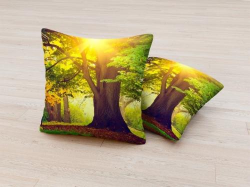 Фотоподушка Солнечное дерево