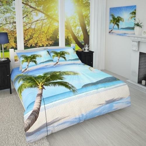 Фотопокрывало Солнечные пальмы на берегу