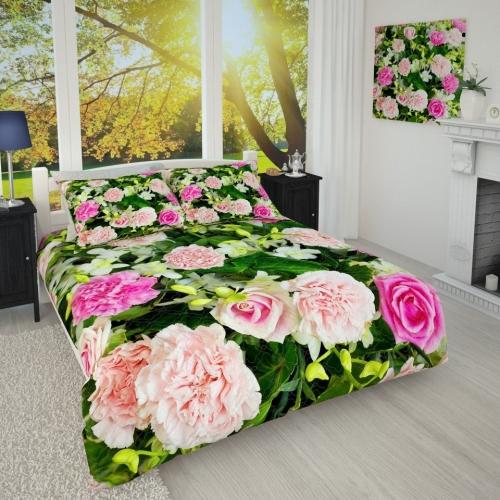 Фотопокрывало Гвоздики и розы