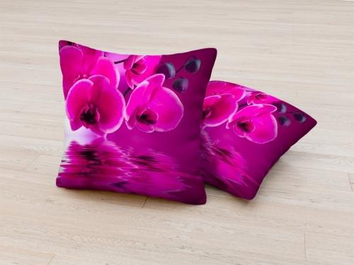 Фотоподушка Розовая орхидея