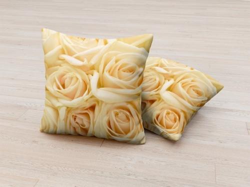 Фотоподушка Бежевые розы