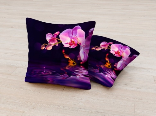 Фотоподушка Орхидея в сумерках